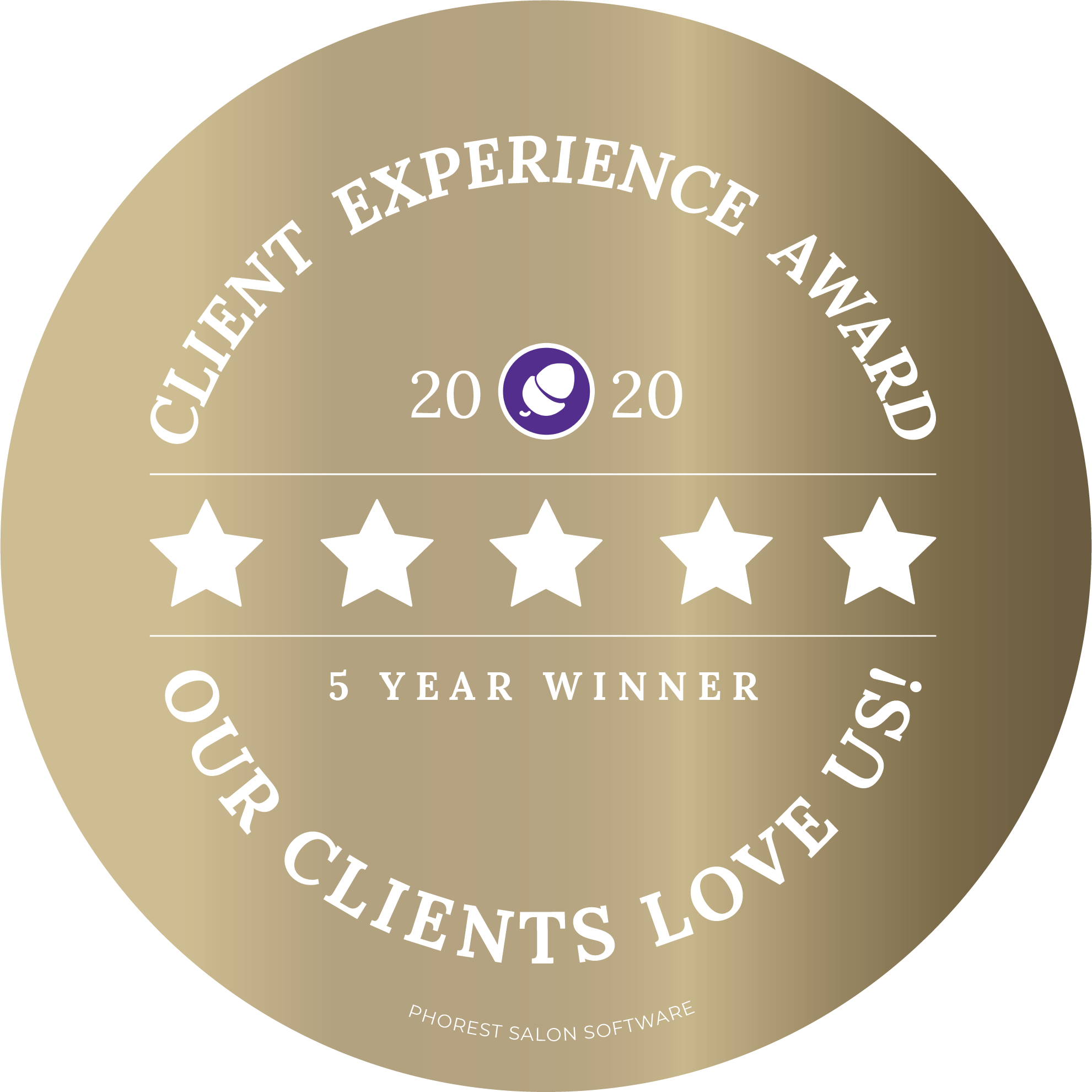 Client Experience Award 5 Year Winner