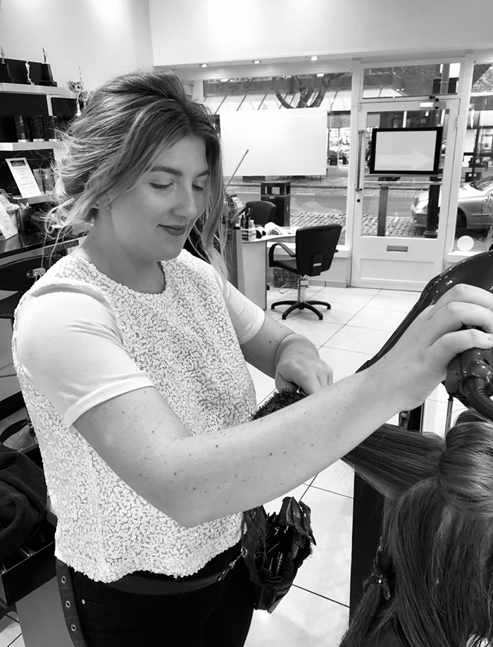 April senior designer stylist formerly from Daniel Galvin London and Hob salon in St Albans
