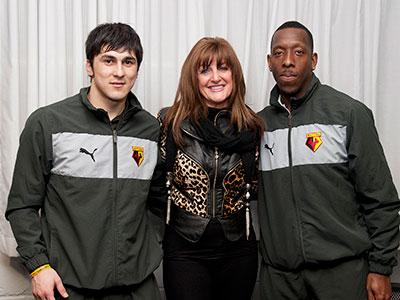 Trisha Buller with Lloyd Doyley and Fernando Forestieri