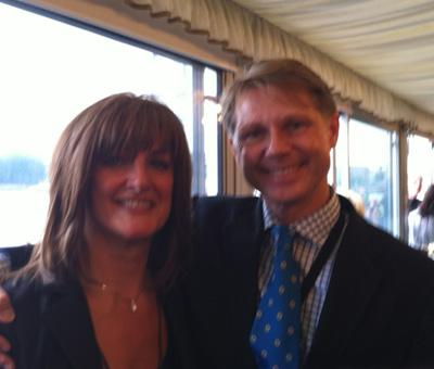 Trisha at House of Commons with David Morris MP