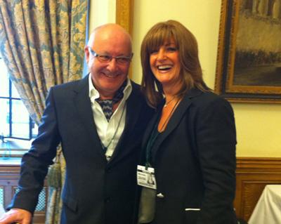Trisha at House of Commons with Trevor Sorbie MBE